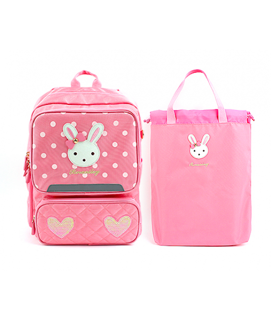 Winghouse School Backpack Pink Rabbit MA0961